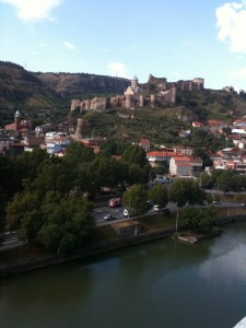 Tbilisi river and castle