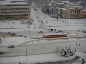 Sarajevo tram in winter