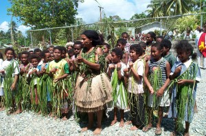 Children dancing at Provincial Treasurers meeting in Papua New Guinea